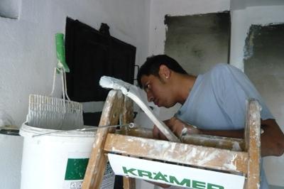 3. Renovierungsabschnitt beim Krummhardter Backhäusle