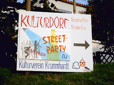 """Straßenfest in Aichschieß vom 10.-12.09.2004: im kleinen """"Kulturdorf"""" des Kulturvereins war eine Menge geboten!"""