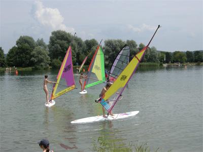 Surfwochenende vom 25. – 27. 7. 2008 am Oberrieder Weiher im Allgäu